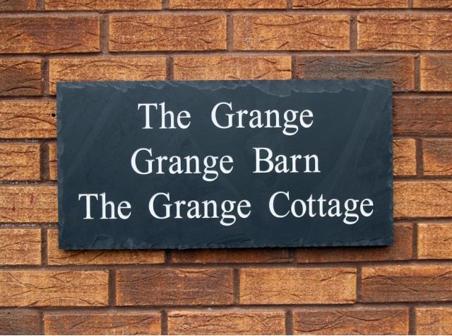 Welsh Slate House Sign - 300mm x 600mm x 20mm